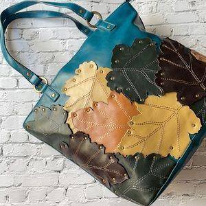OLGA BERG | Oversized patterned shoulder bag